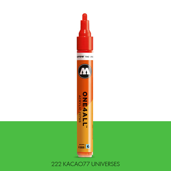 222 KACAO77 UNIVERSES GREEN Marker Molotow 227HS - 4mm