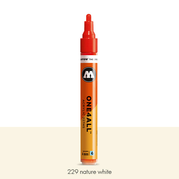 229 NATURE WHITE Marker Molotow 227HS - 4mm