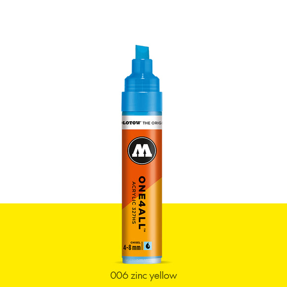 006 ZINC YELLOW Marker Molotow 327HS - 4-8mm