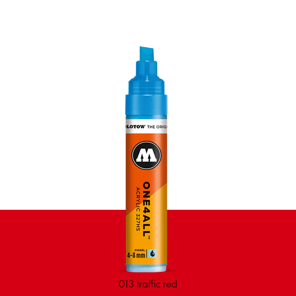 013 TRAFFIC RED Marker Molotow 327HS - 4-8mm