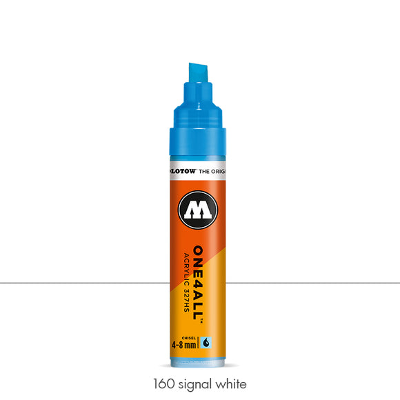 160 SIGNAL WHITE Marker Molotow 327HS - 4-8mm