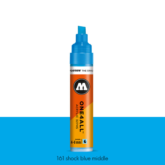 161 SHOCK BLUE MIDDLE Marker Molotow 327HS - 4-8mm