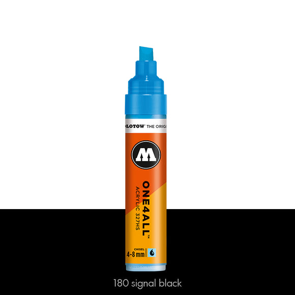 180 SIGNAL BLACK Marker Molotow 327HS - 4-8mm