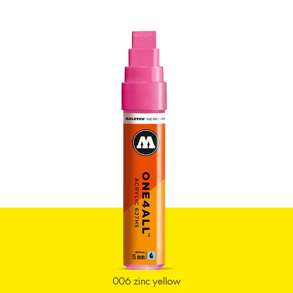 006 ZINC YELLOW Marker Molotow 627HS - 15mm