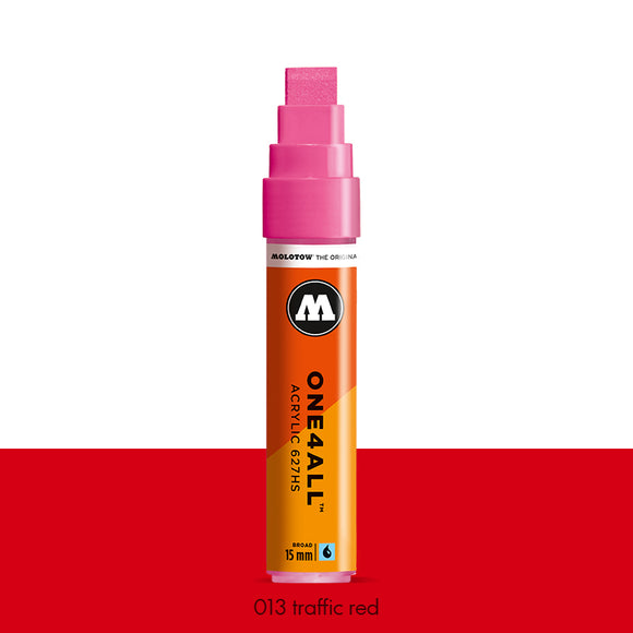 013 TRAFFIC RED Marker Molotow 627HS - 15mm