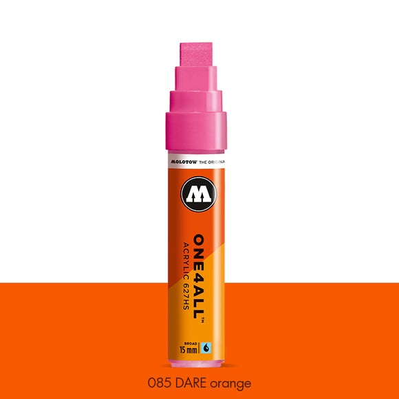 085 DARE ORANGE Marker Molotow 627HS - 15mm