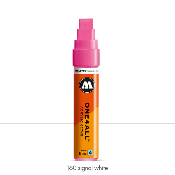 160 SIGNAL WHITE Marker Molotow 627HS - 15mm