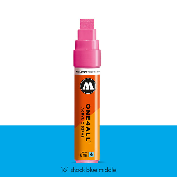 161 SHOCK BLUE MIDDLE Marker Molotow 627HS - 15mm
