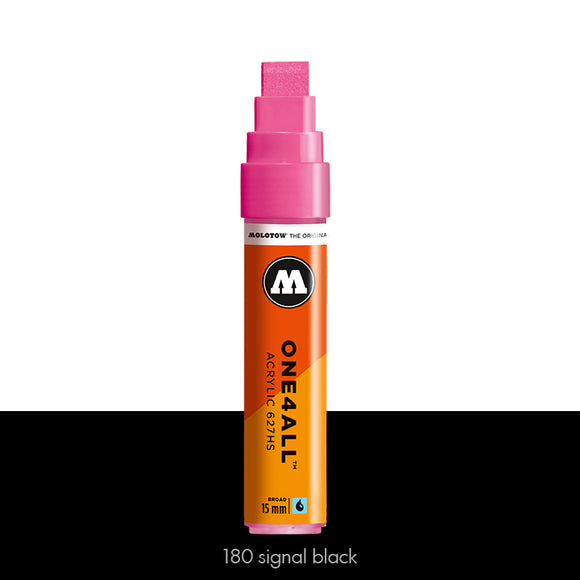 180 SIGNAL BLACK Marker Molotow 627HS - 15mm