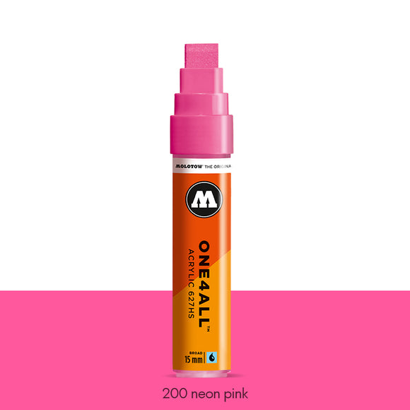 200 NEON PINK Marker Molotow 627HS - 15mm