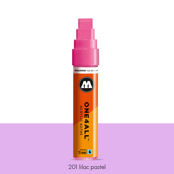 201 LILAC PASTEL Marker Molotow 627HS - 15mm