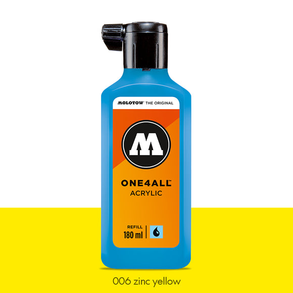006 ZINC YELLOW Refill 180ml One4All Molotow