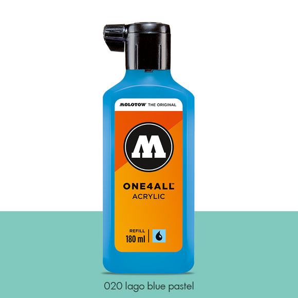 020 LAGO BLUE PASTEL Refill 180ml One4All Molotow