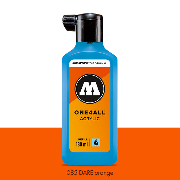 085 DARE ORANGE Refill 180ml One4All Molotow