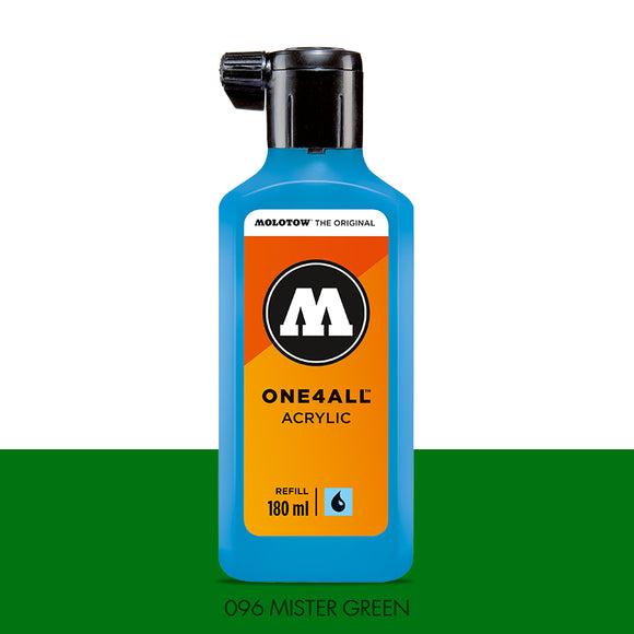 096 MISTER GREEN Refill 180ml One4All Molotow