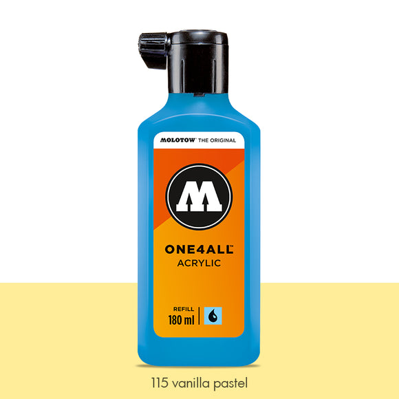 115 VANILLA PASTEL Refill 180ml One4All Molotow
