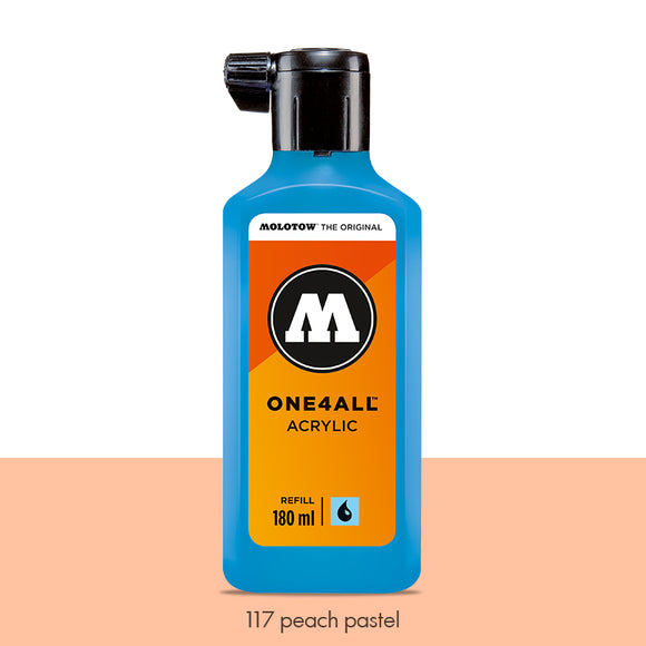 117 PEACH PASTEL Refill 180ml One4All Molotow