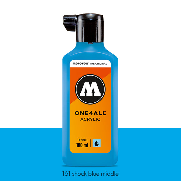 161 SHOCK BLUE MIDDLE Refill 180ml One4All Molotow
