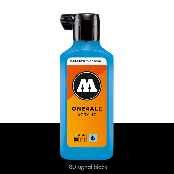 180 SIGNAL BLACK Refill 180ml One4All Molotow