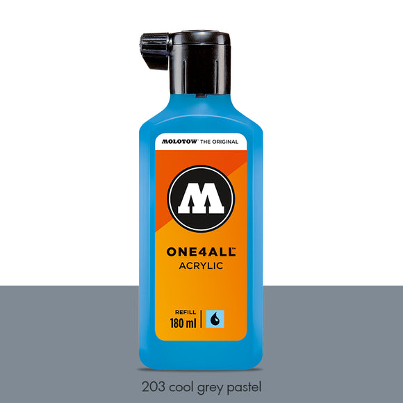 203 COOL GREY PASTEL Refill 180ml One4All Molotow