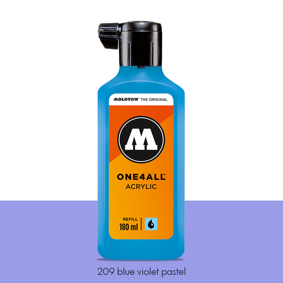 209 BLUE VIOLET PASTEL Refill 180ml One4All Molotow