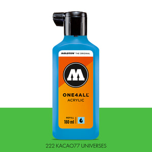 222 KACAO77 UNIVERSES GREEN Refill 180ml One4All Molotow
