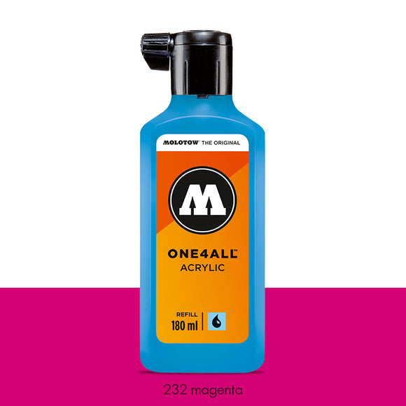 232 MAGENTA Refill 180ml One4All Molotow