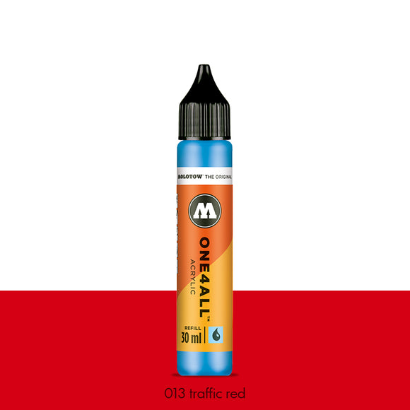 013 TRAFFIC RED Refill 30ml One4All Molotow
