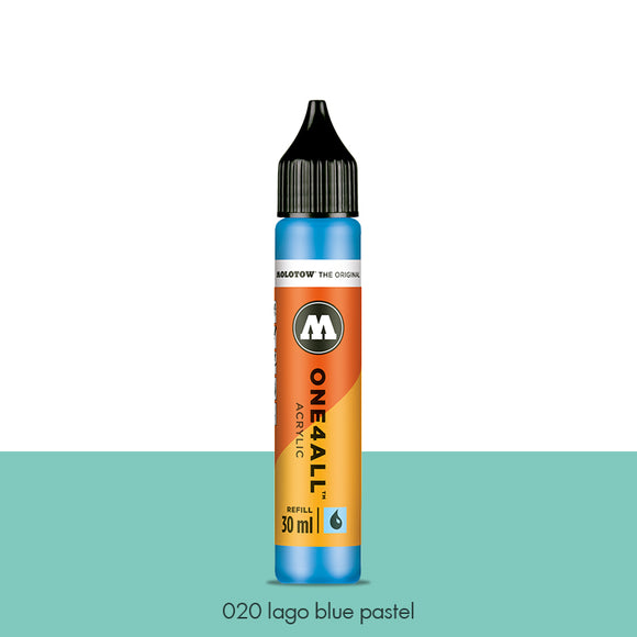 020 LAGO BLUE PASTEL Refill 30ml One4All Molotow