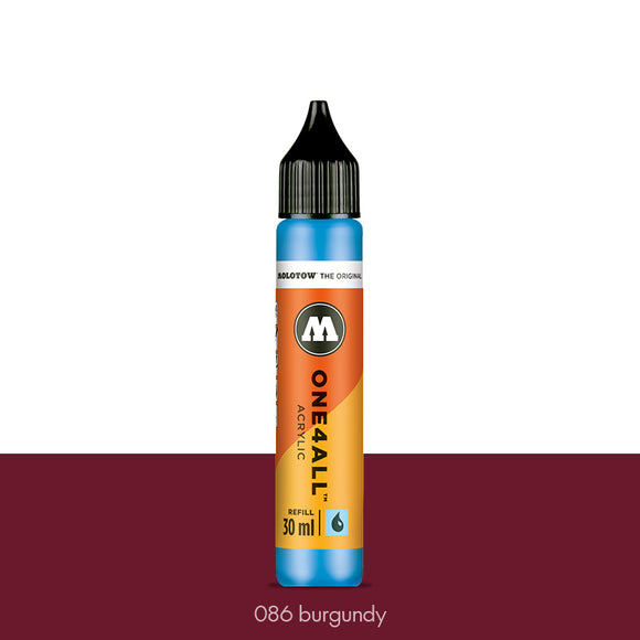 086 BURGUNDY Refill 30ml One4All Molotow