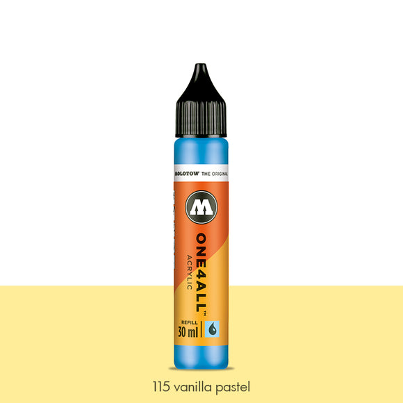 115 VANILLA PASTEL Refill 30ml One4All Molotow