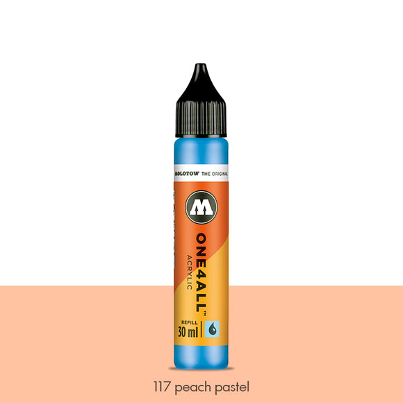 117 PEACH PASTEL Refill 30ml One4All Molotow
