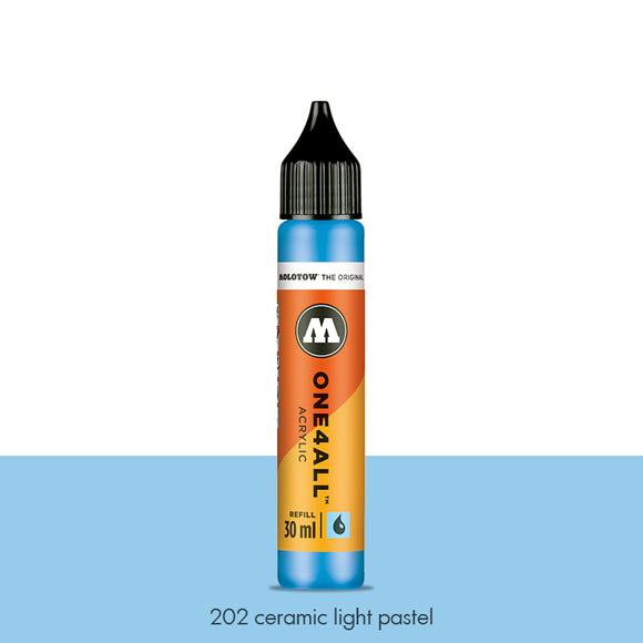 202 CERAMIC LIGHT PASTEL Refill 30ml One4All Molotow