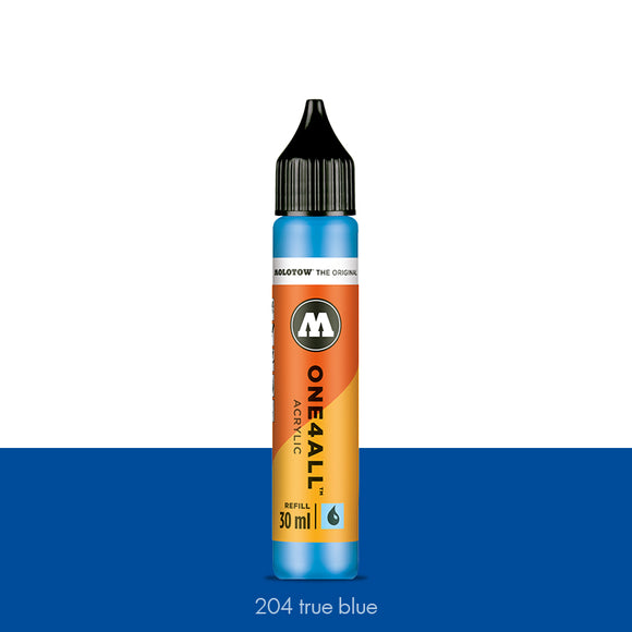 204 TRUE BLUE Refill 30ml One4All Molotow