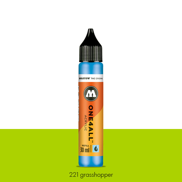 221 GRASSHOPPER Refill 30ml One4All Molotow