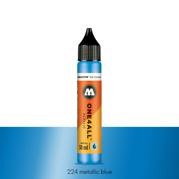 224 METALLIC BLUE Refill 30ml One4All Molotow