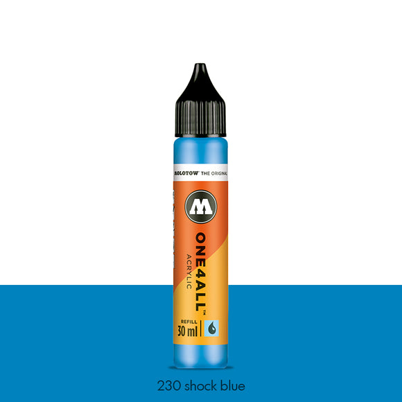 230 SHOCK BLUE Refill 30ml One4All Molotow