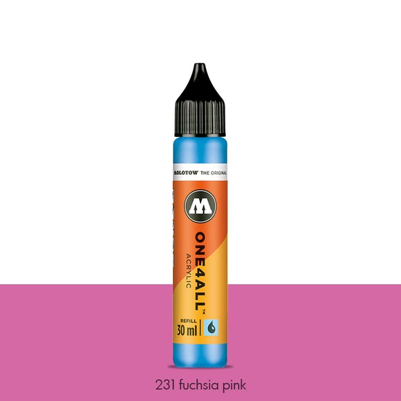 231 FUCHSIA PINK Refill 30ml One4All Molotow