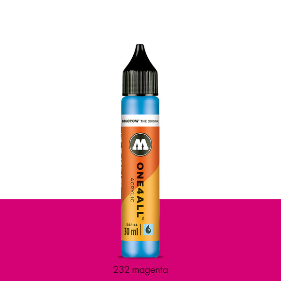232 MAGENTA Refill 30ml One4All Molotow