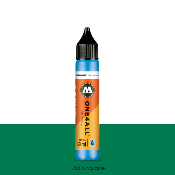235 TURQUOISE Refill 30ml One4All Molotow