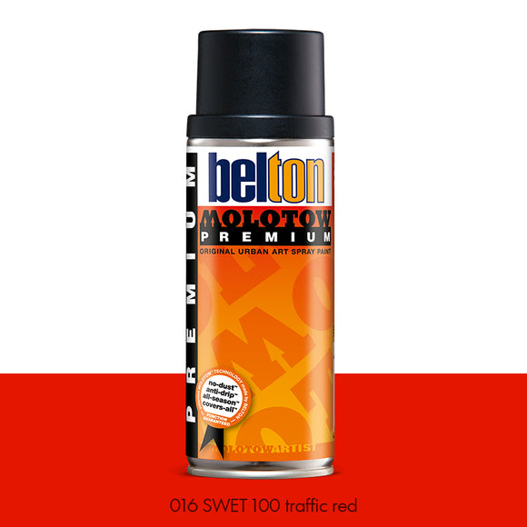 016 SWET 100 Traffic Red - Belton Molotow Premium - 400ml