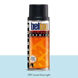 089 Azure Blue Light - Belton Molotow Premium - 400ml