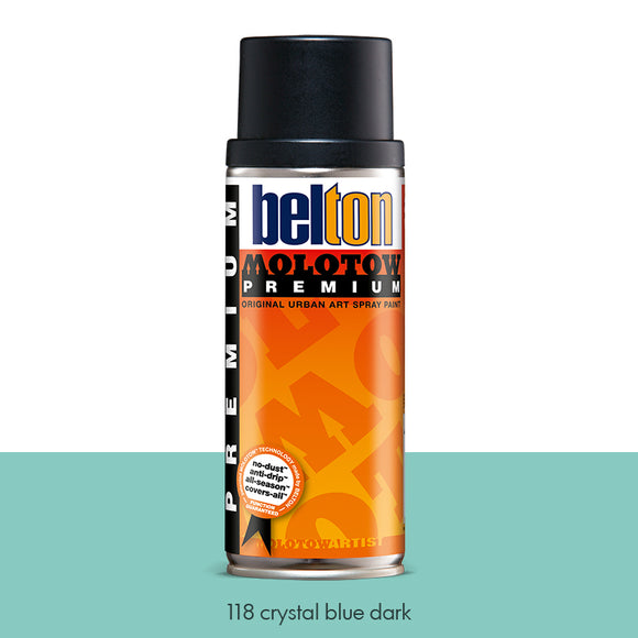 118 Crystal Blue Dark - Belton Molotow Premium - 400ml