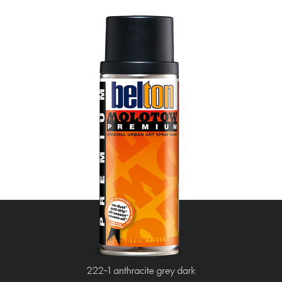 222-1 Anthracite Grey Dark - Belton Molotow Premium - 400ml