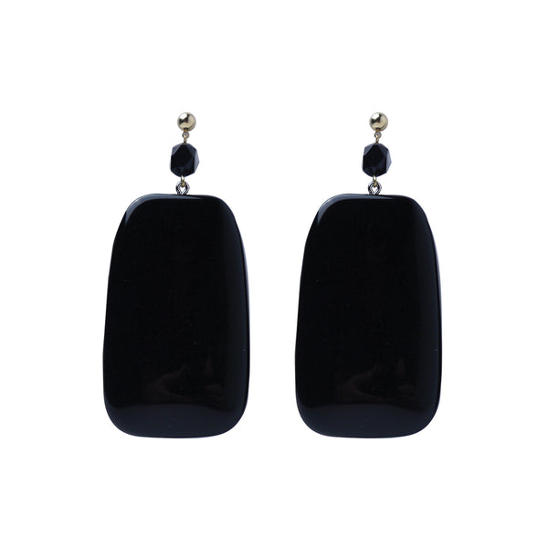 Big Black statement earrings