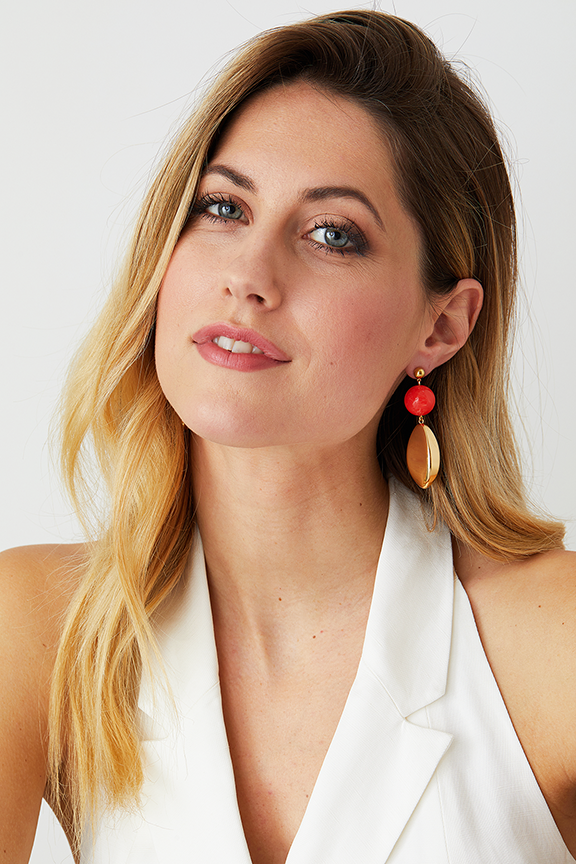 Artemisia Coral Earrings