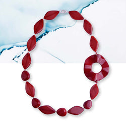 Red ruby statement necklace