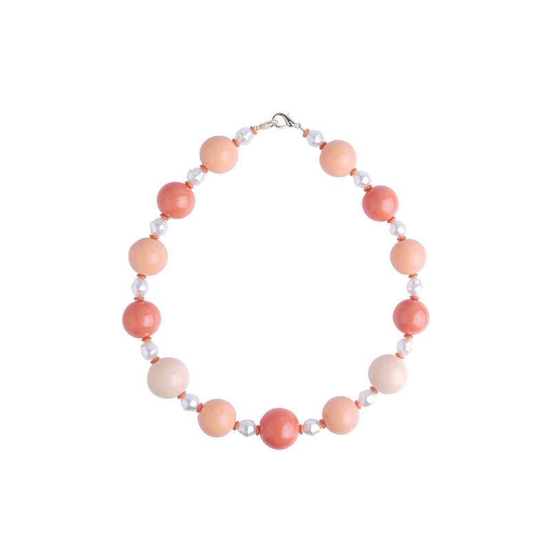 Pink pearl statement necklace