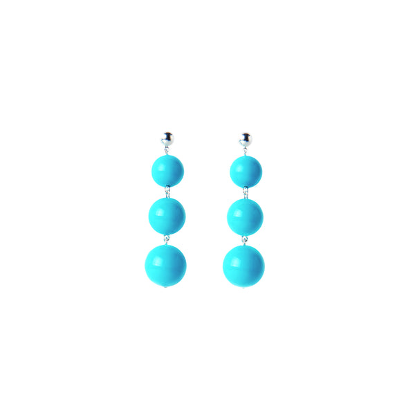 Light blue turquoise statement earrings
