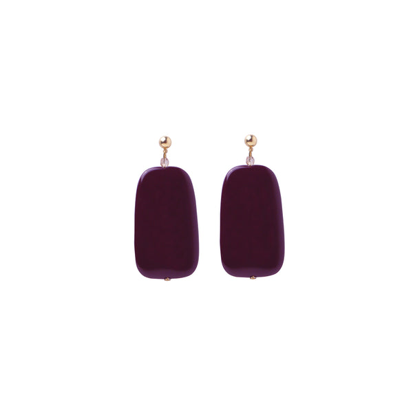 Burgandy statement earrings
